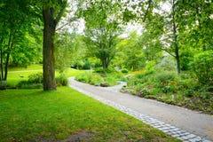 Het lopen van wegen in het park stock afbeelding