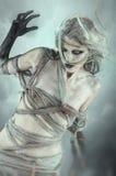 Het lopende dode enge meisje royalty-vrije stock afbeeldingen