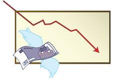 Het losmaken van geld Stock Foto