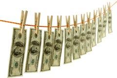 Het loundering concept van het geld Stock Foto's