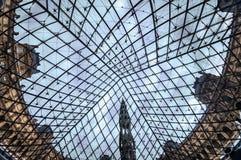 Het Louvre Art Museum, Parijs, Frankrijk. Stock Foto