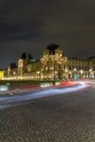 Het 'Louvre' 's nachts Royalty-vrije Stock Fotografie