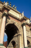 Het Louvre van de Carrousel van de boog stock afbeelding