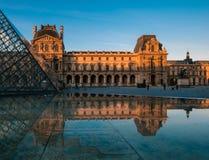 Het Louvre van Frankrijk Parijs Stock Afbeelding