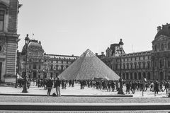 Het Louvremuseum Royalty-vrije Stock Foto's