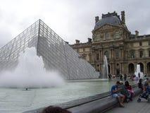 Het Louvremuseum is het belangrijkste museum in Frankrijk stock foto's