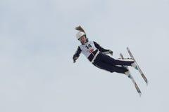 Het lucht ski?en Stock Afbeeldingen