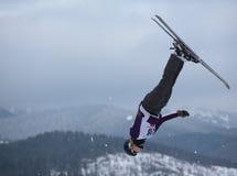 Het lucht ski?en Stock Foto