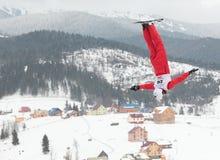 Het lucht ski?en Royalty-vrije Stock Afbeeldingen