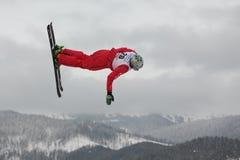 Het lucht ski?en Stock Afbeelding