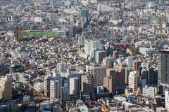Het luchtgebied van de binnenstad van de de stadswoonplaats van meningstokyo Stock Afbeelding