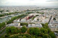 Het luchtpanorama van Parijs Stock Afbeelding