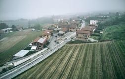 Het luchtschot van het Castagnetodorp royalty-vrije stock foto's