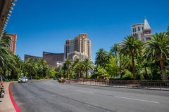 Het luchtspiegelinghotel en de Casinotaxi nemen gebied op Stock Foto's