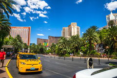 Het luchtspiegelinghotel en de Casinotaxi nemen gebied op Royalty-vrije Stock Afbeeldingen