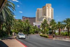 Het luchtspiegelinghotel en de Casinotaxi nemen gebied op Stock Afbeelding