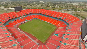 Het luchtstadion Miami 7 van het Zonleven stock video