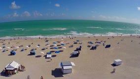 Het luchtstrand van Miami stock footage
