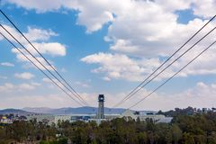 Het Luchttramspoor van Puebla, Mexico stock foto's