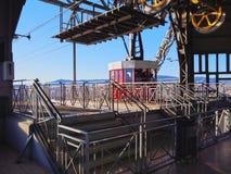 Het LuchtTramspoor van Vell van de haven in Barcelona Stock Foto
