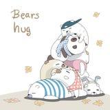 Het luie beren slapen vector illustratie