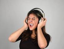 Het luisteren aan muziek-2 Stock Foto