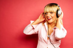 Het luisteren muziek 2 Royalty-vrije Stock Afbeeldingen