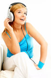 Het luisteren muziek Royalty-vrije Stock Afbeelding