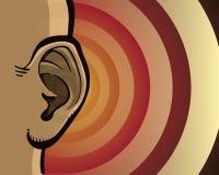 Het luisteren oor stock illustratie