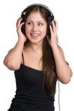 Het luisteren van de muziek Stock Fotografie