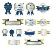 Het luxeetiket en beweegt reeks Royalty-vrije Stock Afbeeldingen