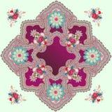 Het luxepatroon met oosterse ornament, Paisley, mandalas en bossen van tuin bloeit in ottomanestijl r stock illustratie
