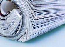 Het luxetijdschrift op glanzend papier van de pagina Royalty-vrije Stock Foto