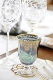 Het luxueuze diner plaatsen Stock Foto's