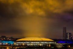 Het Luzhniki-stadion na wederopbouw royalty-vrije stock foto's
