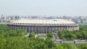 Het Luzhnikistadion kan binnen, in Moskou de mening vanaf de bovenkant in Moskou 2018 stock footage