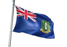 Het maagdelijke Eilanden Britse nationale vlag golven geïsoleerd op witte realistische 3d illustratie als achtergrond stock illustratie