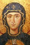 Het maagdelijke mozaïek van Mary in Hagia Sophia Stock Foto