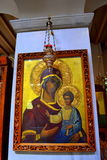 Het maagdelijke schilderen van het kindjesus van Mary stock afbeeldingen