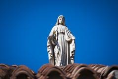 Het maagdelijke standbeeld van Mary stock afbeelding