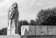 Het maagdelijke standbeeld van Mary Stock Foto's