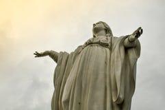 Het maagdelijke standbeeld van Mary op Cerro San Cristobal, Santiago, Chili royalty-vrije stock foto
