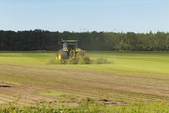 Het maaien van gras Stock Foto's