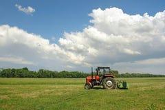 Het maaien van het gras Stock Afbeelding