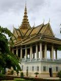Het Maanlicht Pavillion in Royal Palace Complex in Phnom Penh, Kambodja stock foto
