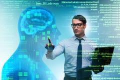 Het machine het leren concept als moderne technologie stock afbeeldingen
