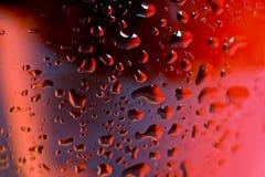Het macro dichte omhooggaande het wijnglas en rood of namen wijn toe royalty-vrije stock foto