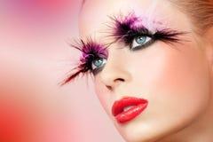 Fantacy maakt omhoog schoonheidsportret. royalty-vrije stock foto