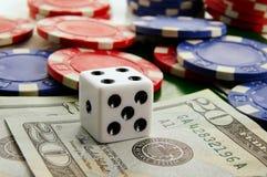Het macro gokken stock foto
