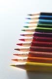 Het macro hoogste recht van de potloodcluster op linkerportret Stock Foto's